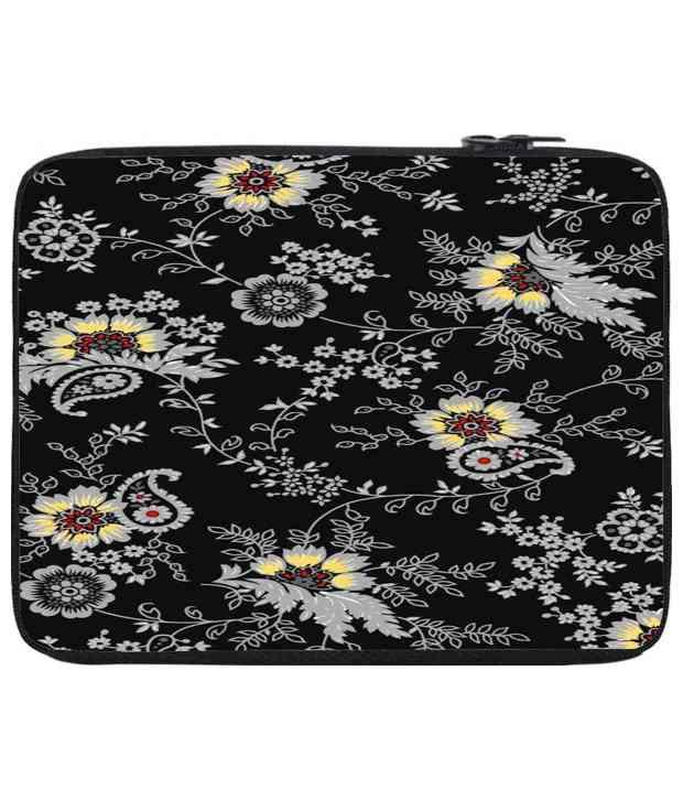 Snoog Black & Gray Laptop Sleeve