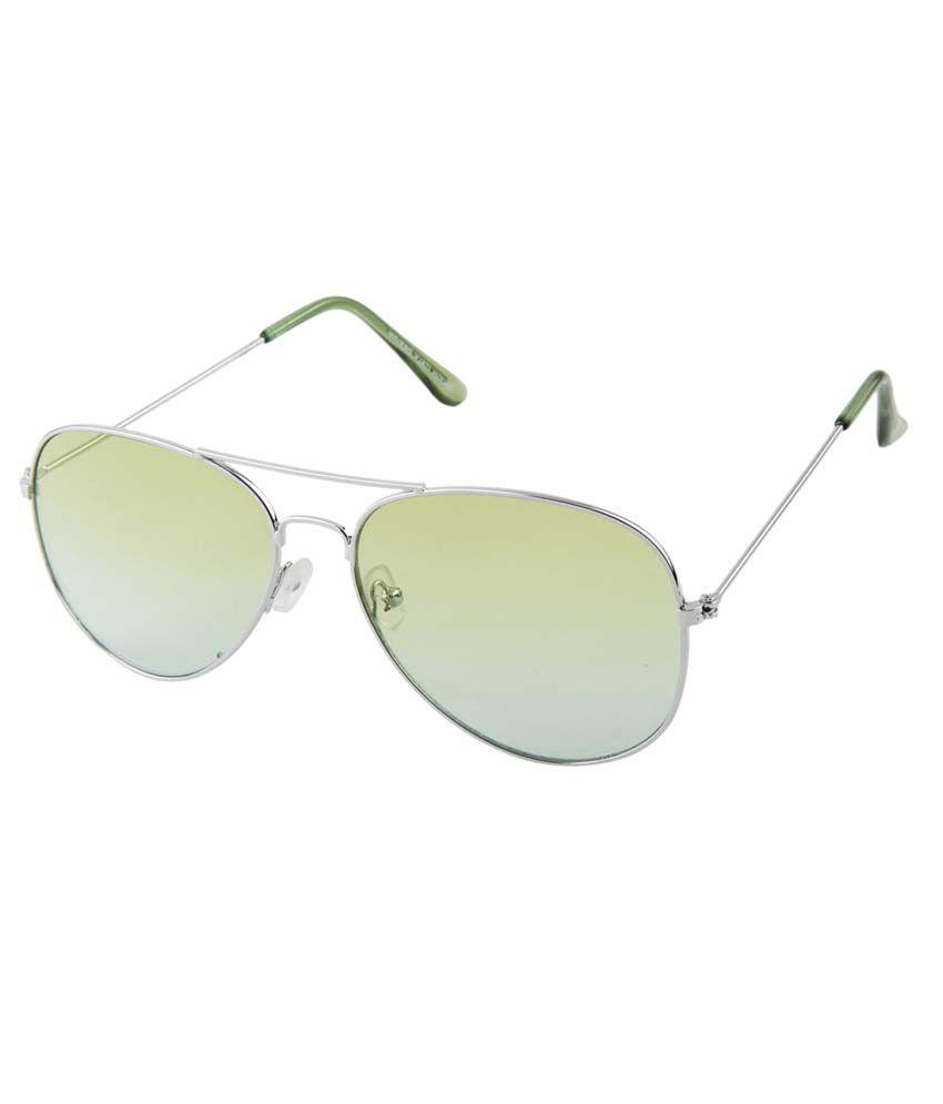 Aten 12011-4_0515 Green Metal Aviator Unisex Sunglasses