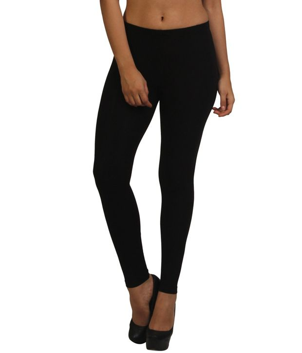 Frenchtrendz Black Poly Viscose Jeggings