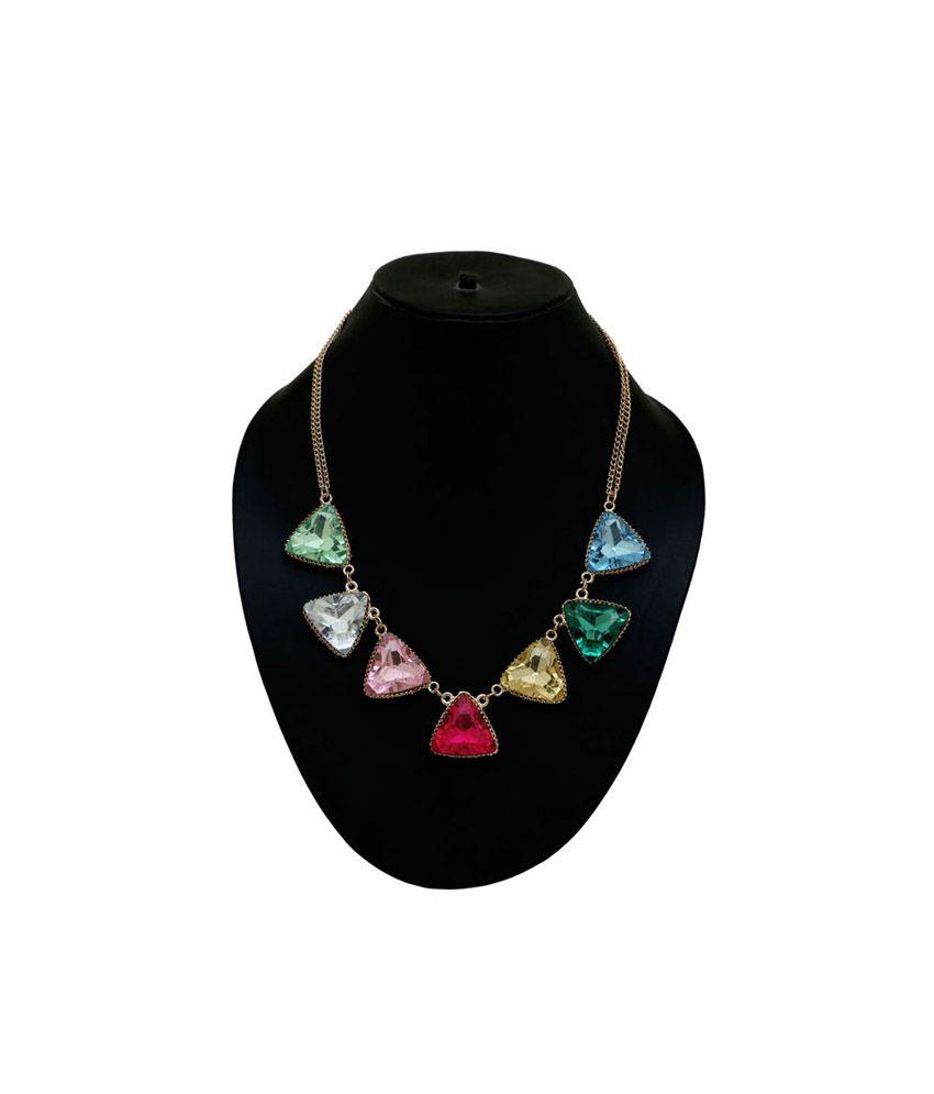 Saashi's Closet Multicolour Spark Necklace