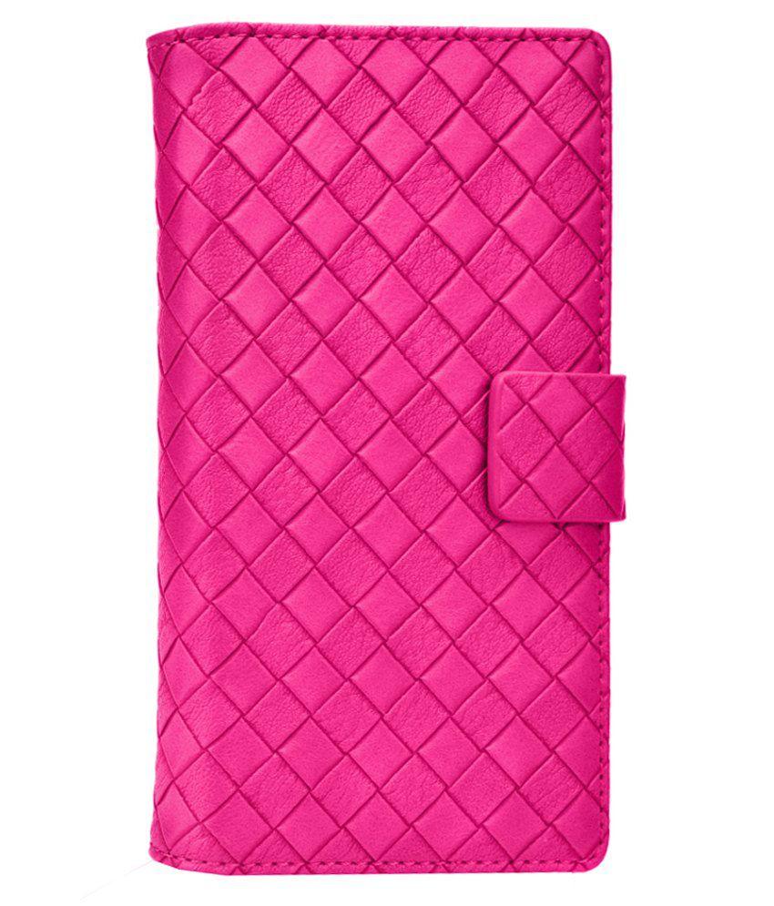 Jo Jo Flip Cover For Lava Iris X1 Atom - Pink