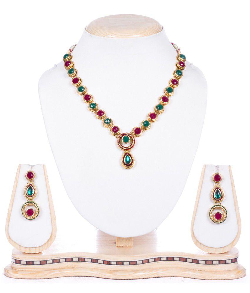Subh Multicolor Designer Alloy Necklace Set