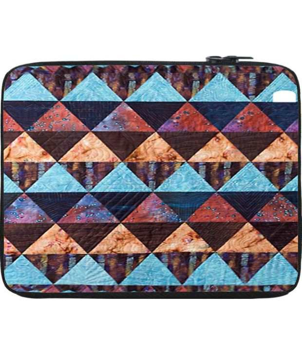 Snoogg Blue and Brown Laptop Sleeve