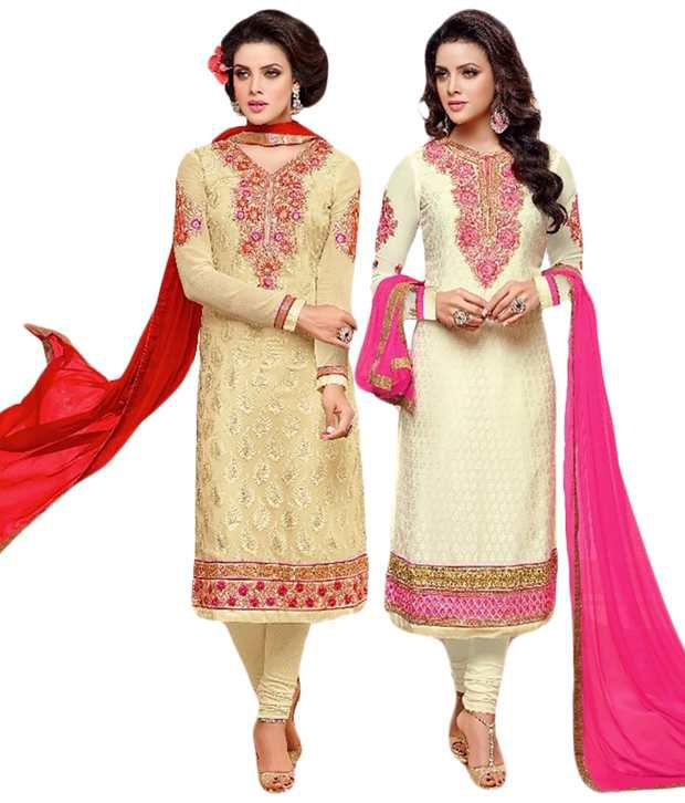 Sree Impex Beige Others Unstitched Dress Material