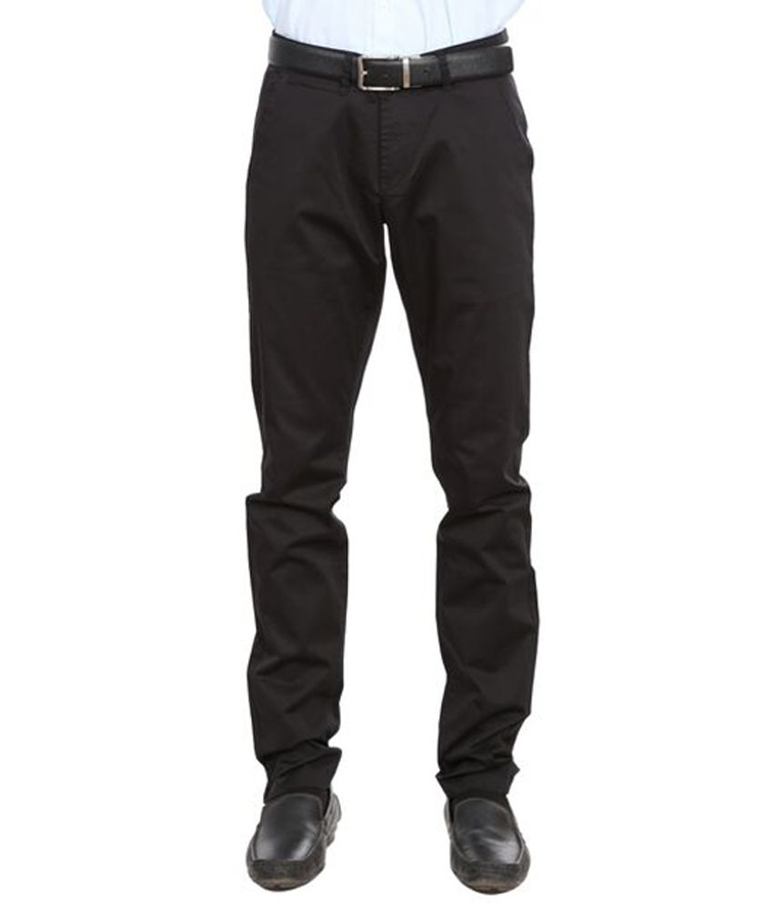 White House Formals Black Cotton Trouser