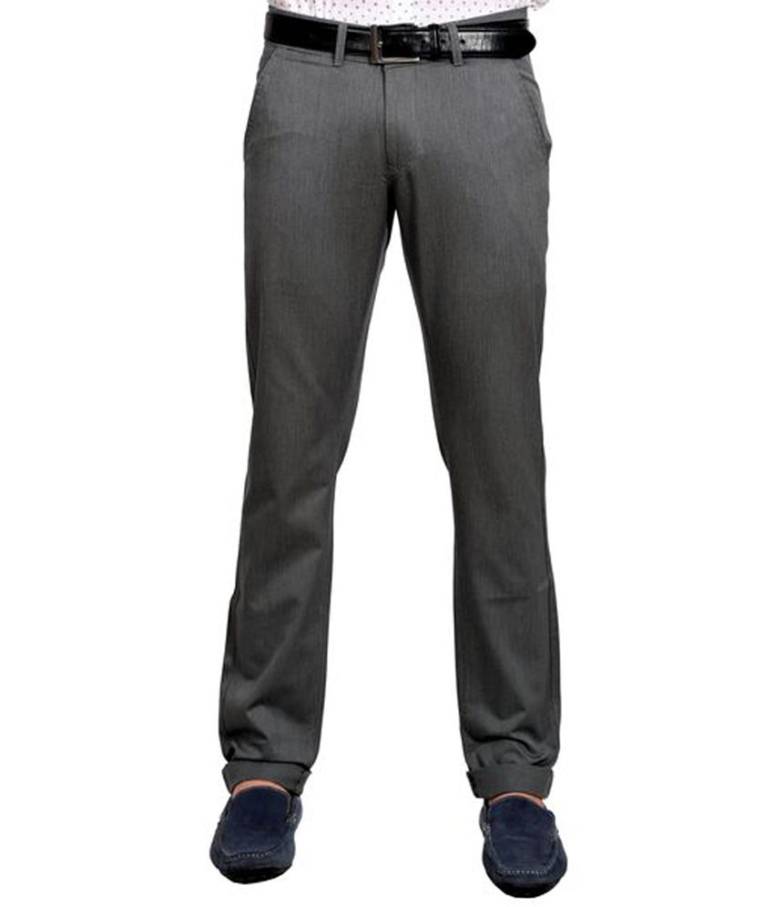 White House Formals Gray Cotton Trouser