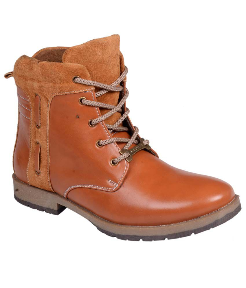 cns shoes tan synthetic leather lace men boots buy cns