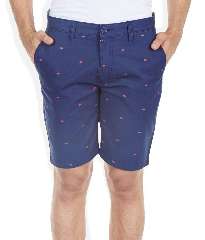 Ed Hardy Navy Printed Shorts