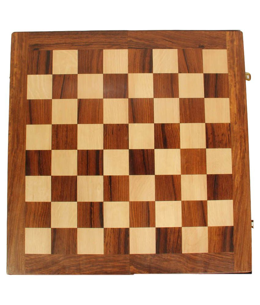 Vishal Exports Brown Wooden Square Chess Board - 12 Inch