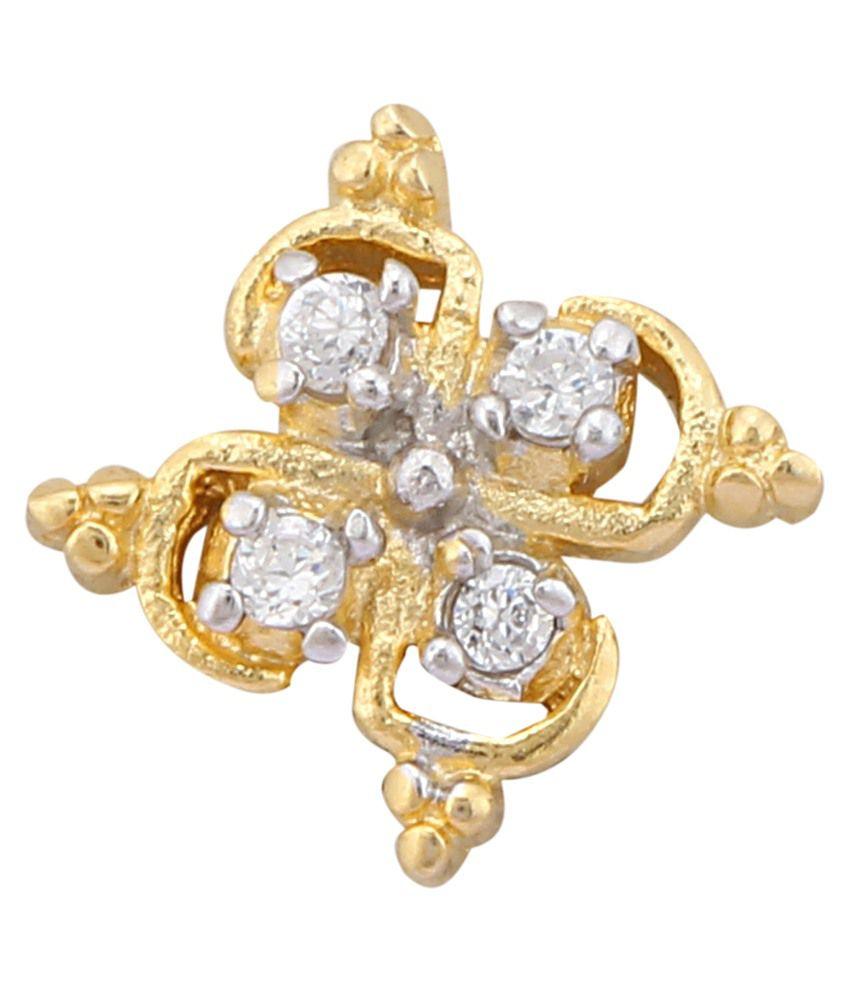 Celesta Jewels Golden Alloy Stud Earrings