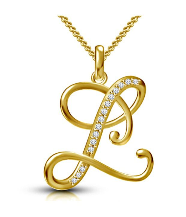 Kataria jewellers letter l gold plated 925 sterling silver and kataria jewellers letter l gold plated 925 sterling silver and swarovski alphabet initial pendant aloadofball Gallery