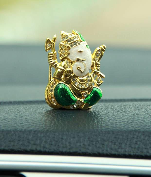 Adaa Gold Plated Lord Ganesha Car Dashboard Idol Buy Adaa Gold