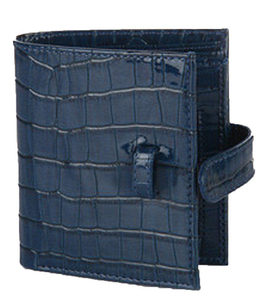 Clocharde F and L Accessories Blue Bi Fold Wallet for Women