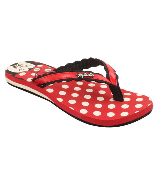 Disney Red Croslite Flip Flops