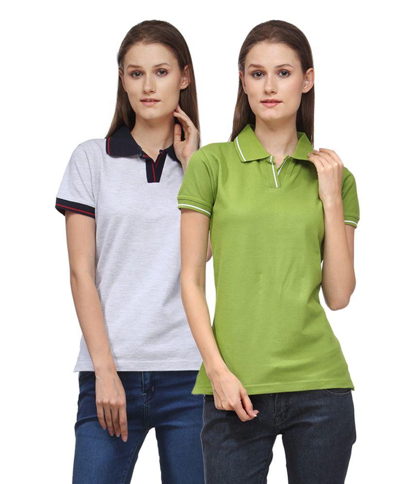 Scott International Multi Color Cotton Blend Polos