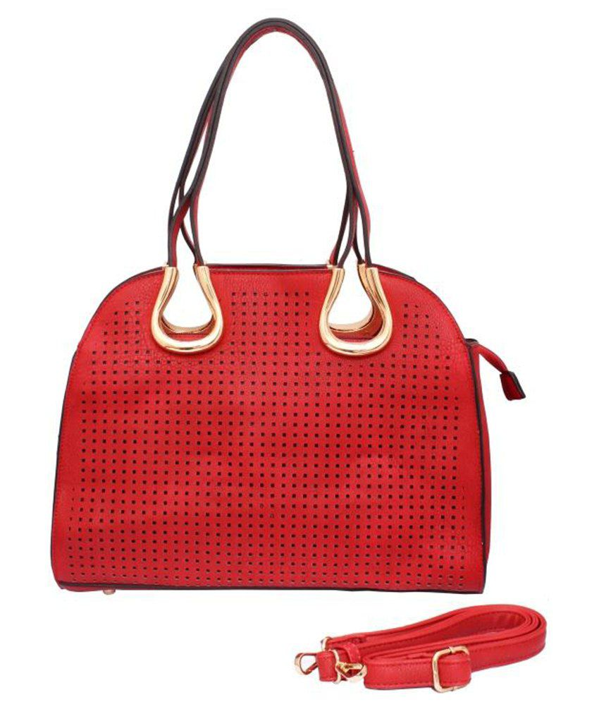 Brown & Bow PU Satchel Bag-Red