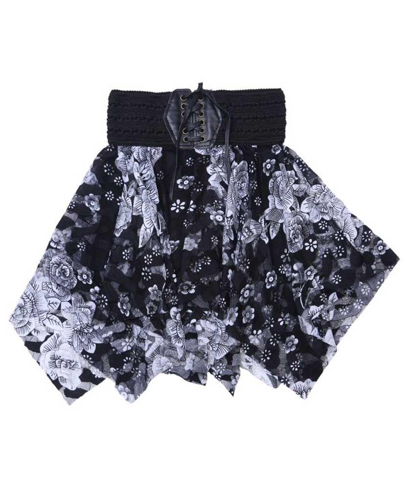 Hunny Bunny Black Net 3D Print Skirt