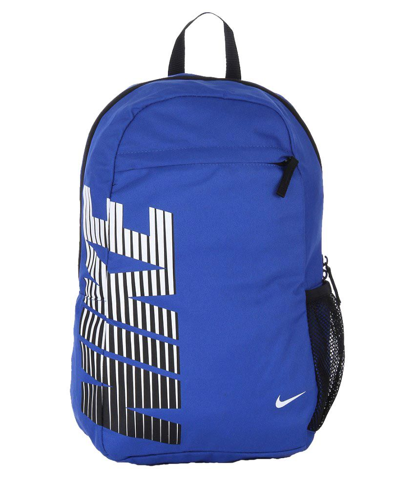 Nike Blue Polyester Backpack Price in India   Buy Nike Blue Polyester  Backpack Online - Gludo.com 41ccd038b3