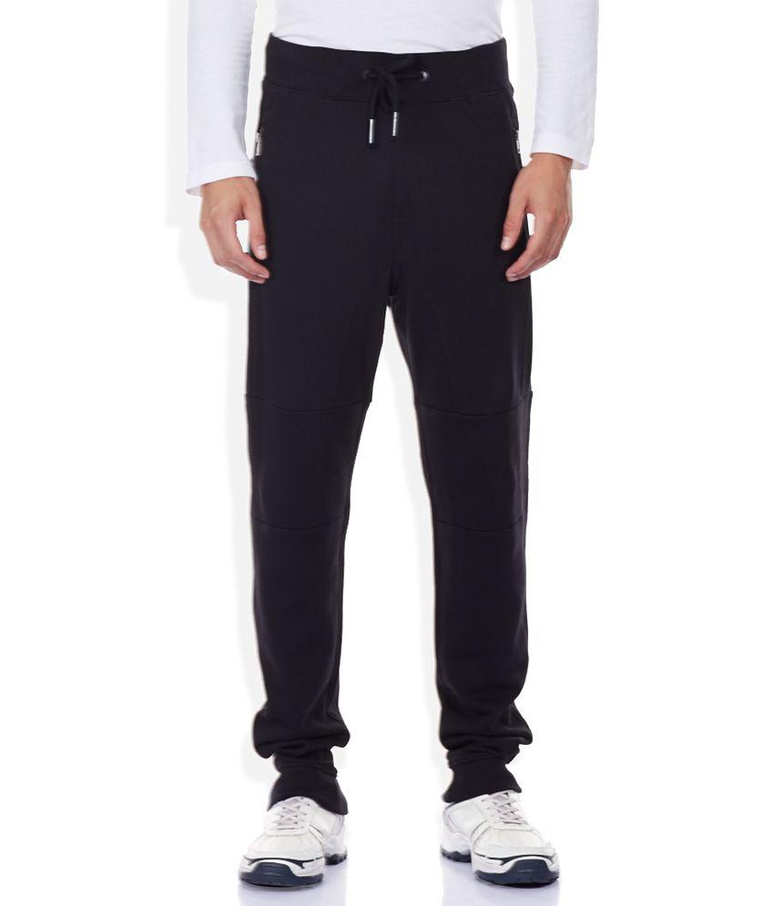 Celio Black Comfort Fit Jog Pants