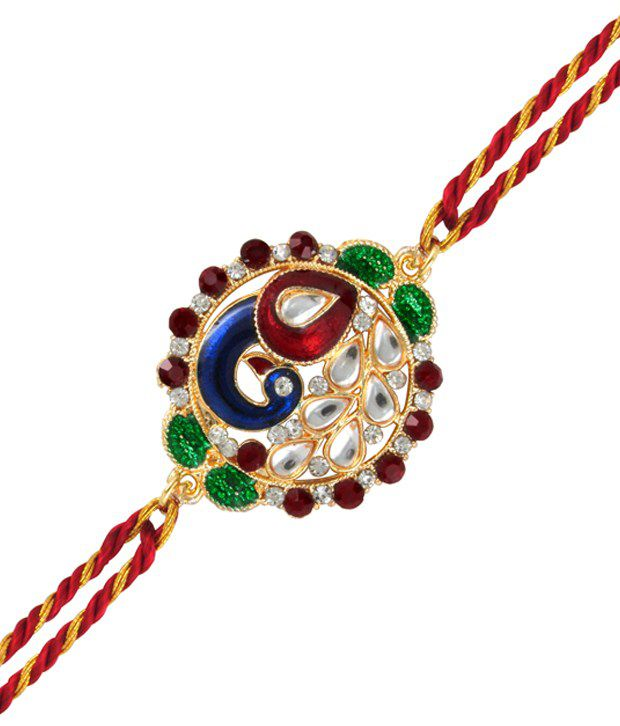 Mahi Gold Plated Fancy Peacock Rakhi