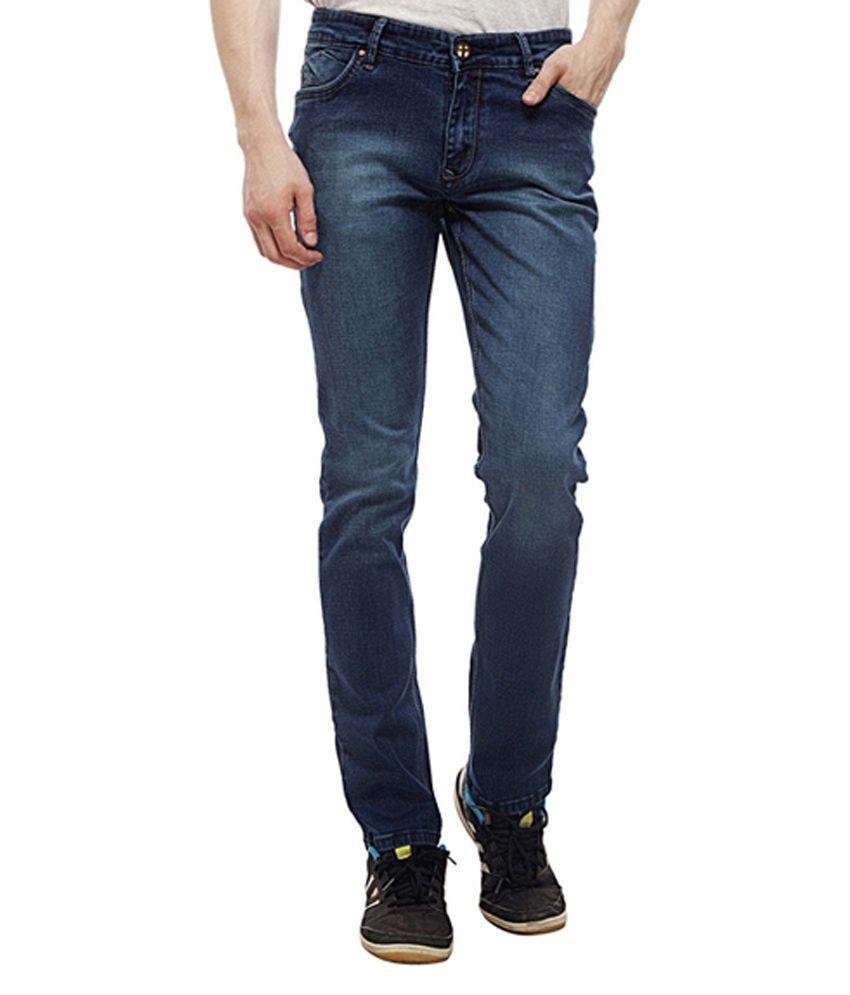 Lacrosse Jeans Blue Cotton Regular Fit Jeans