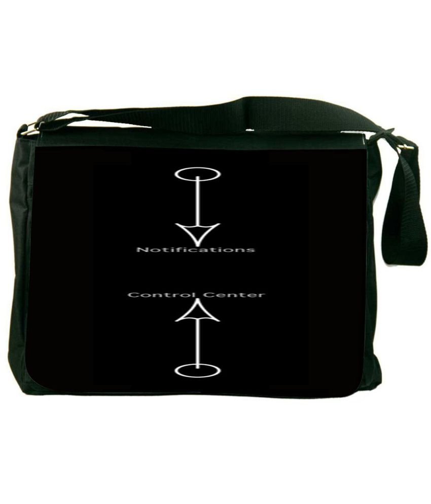 Snoogg Black and White Laptop Messenger Bag Black and White Messenger Bag