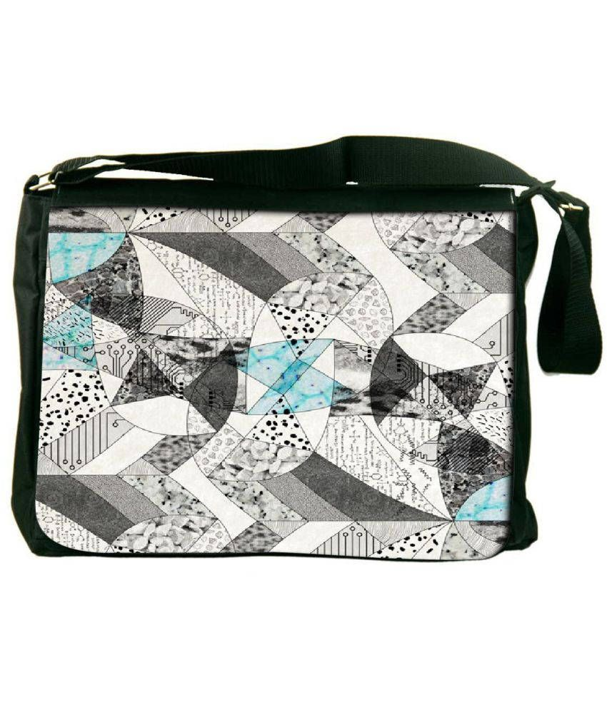 Snoogg Gray Laptop Messenger Bag Gray Messenger Bag