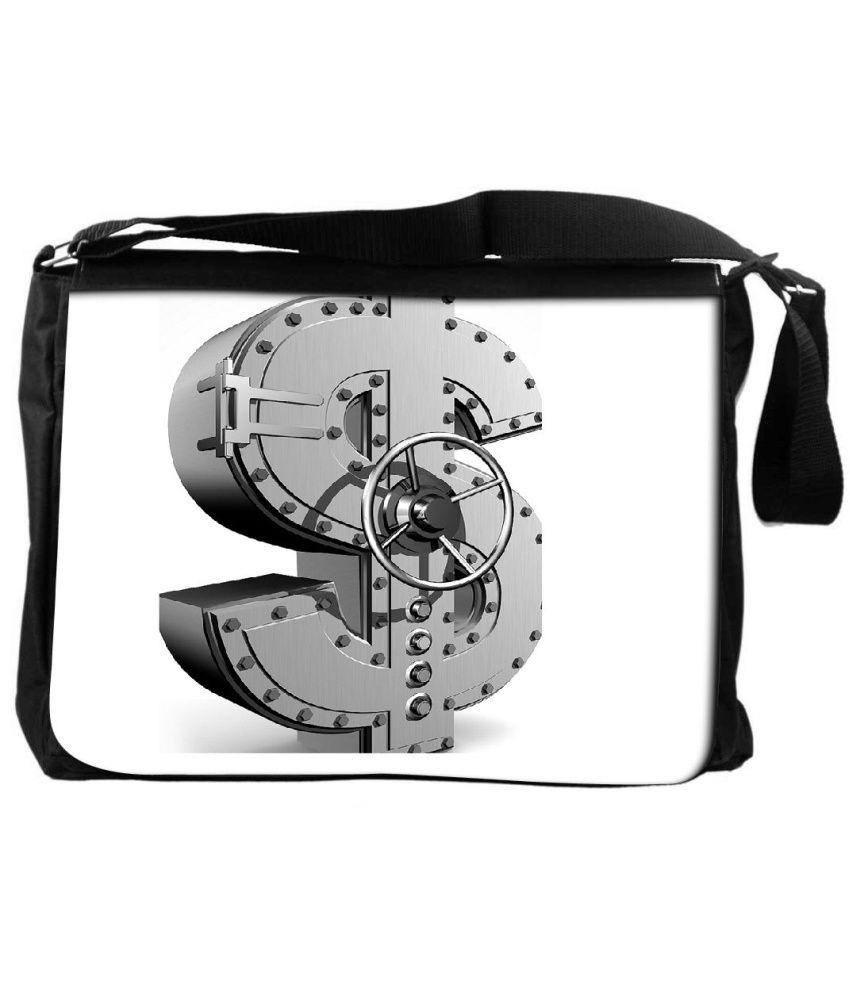 Snoogg White and Gray Laptop Messenger Bag White and Gray Messenger Bag