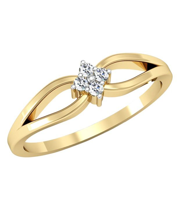 Kataria Jewellers The Eleta BIS Hallmarked Gold and Real Certified Diamonds Designer Ring