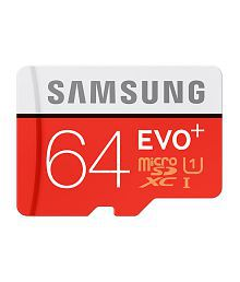 Samsung 64 GB UHS-I 80MB/s Class 10 Evo Plus Micro SDHC Card (With SD Adapter)