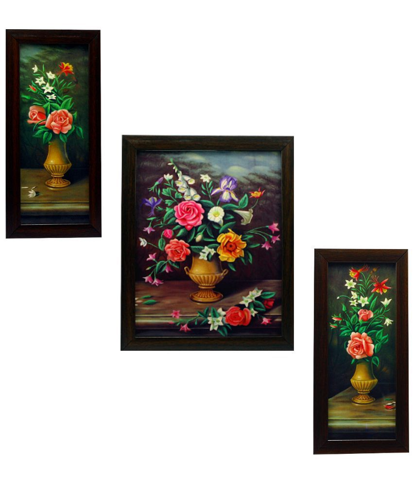 Indianara Matte Wooden Frame 3 Piece Set Of Framed Wall Hanging Snapdeal Price Wall Decor Deals