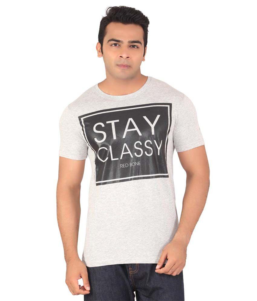 Radbone Gray Cotton Blend T-Shirt