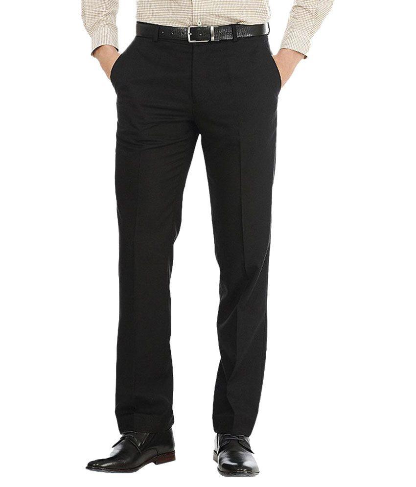 Showman Associate Pvt Ltd Black Cotton Comfort Fit Formal Trouser