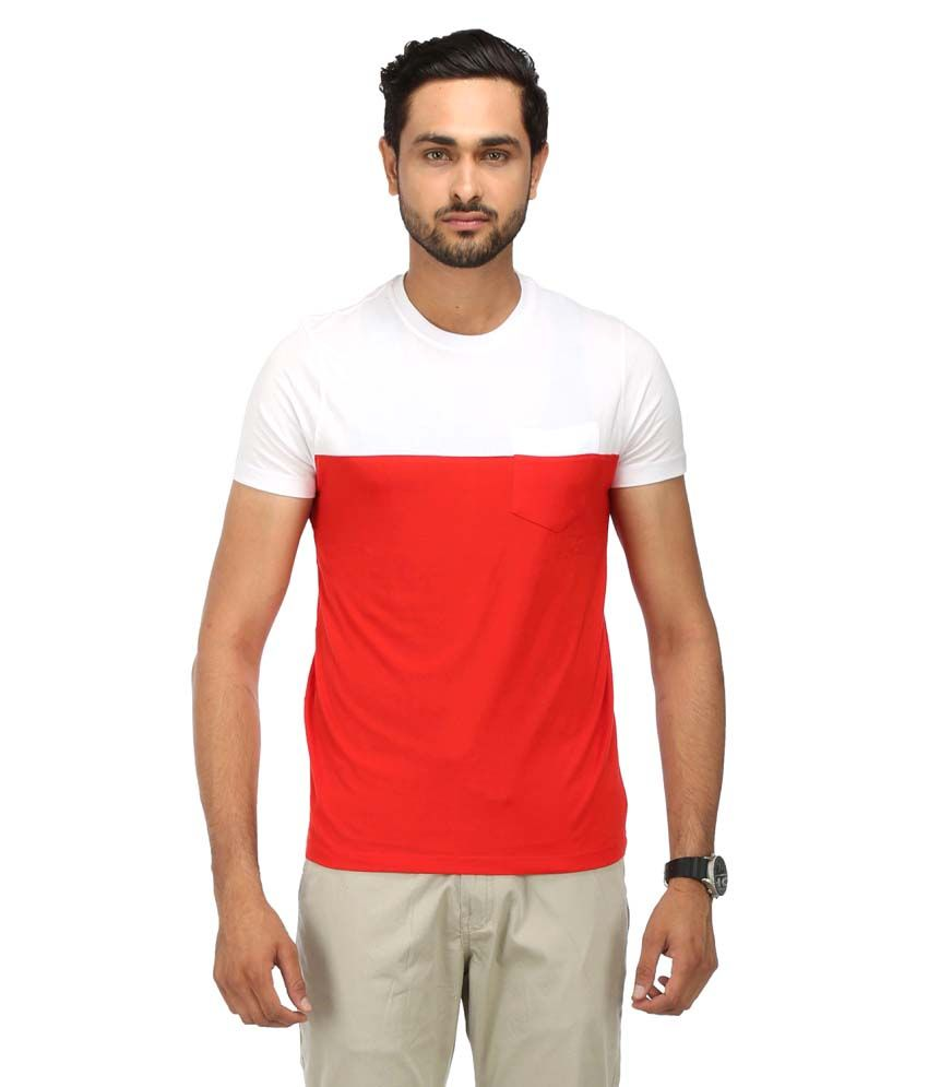 Wear Your Mind Red Cotton T-shirt