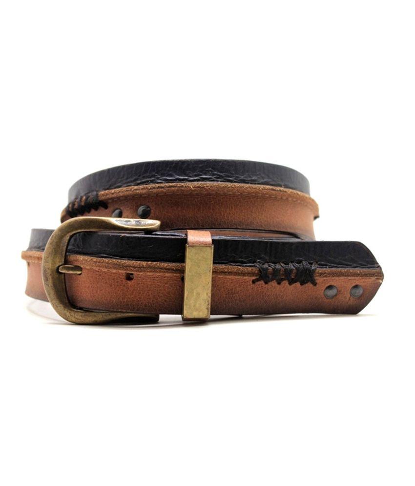 Lapalma Tan Casual Single Belt For Men