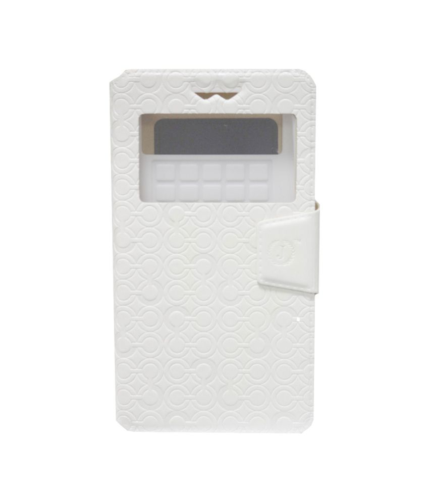 Jo jo Flip Cover For LG Leon - White