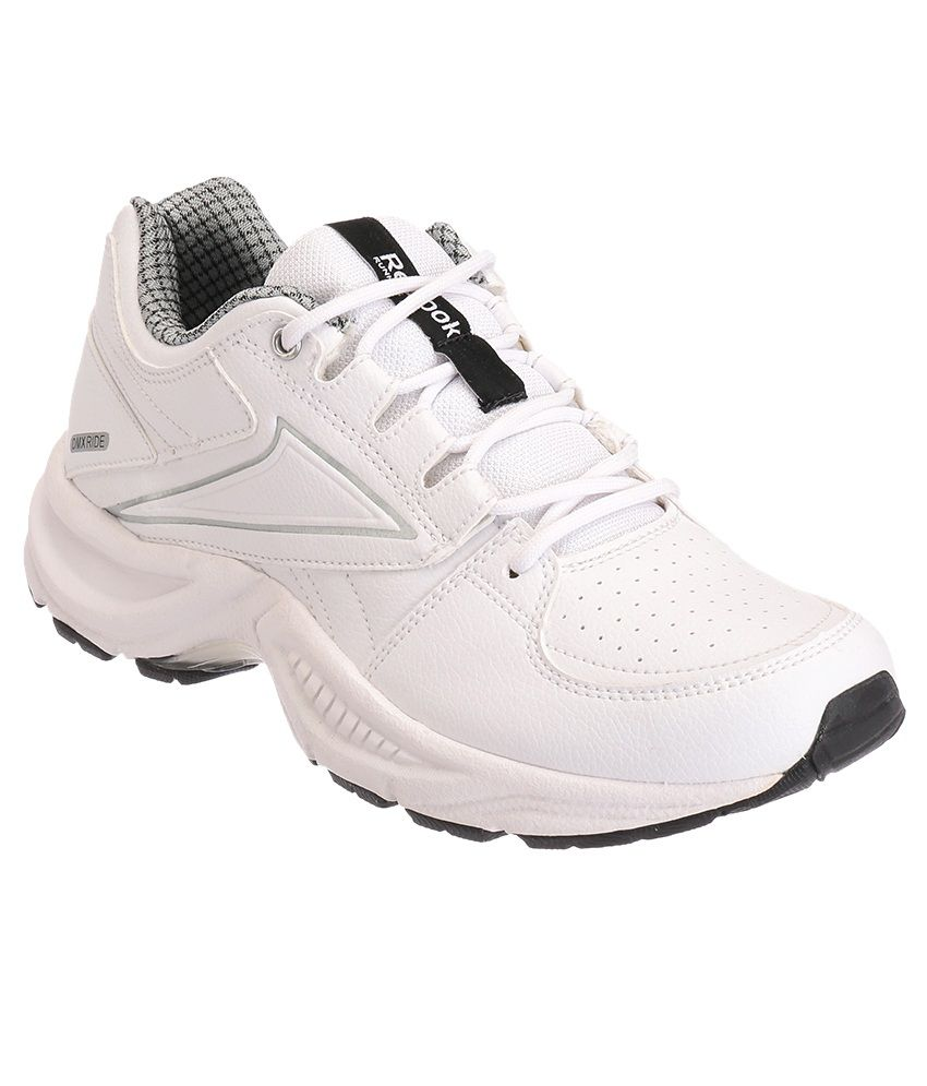 f724af0dd9f91 Reebok Comfort Run Lp White and Silver Sports Shoes - Buy Reebok ...