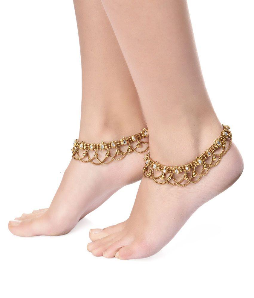 ShinningDiva Ravishing Style Diva Pair Of Anklets
