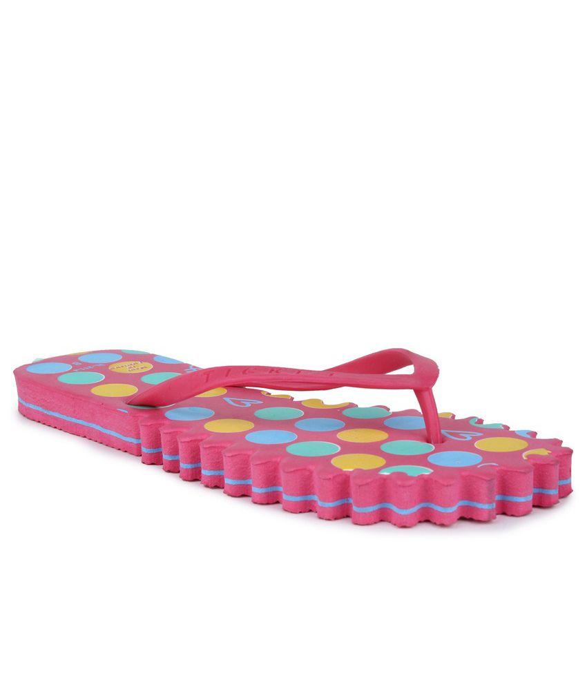 11E Pink PVC Flip Flops