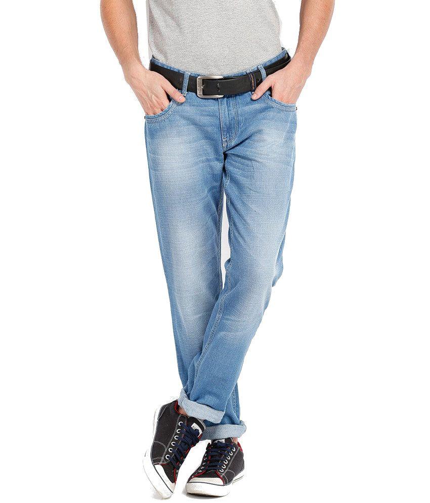 Locomotive Blue Cotton Jeans