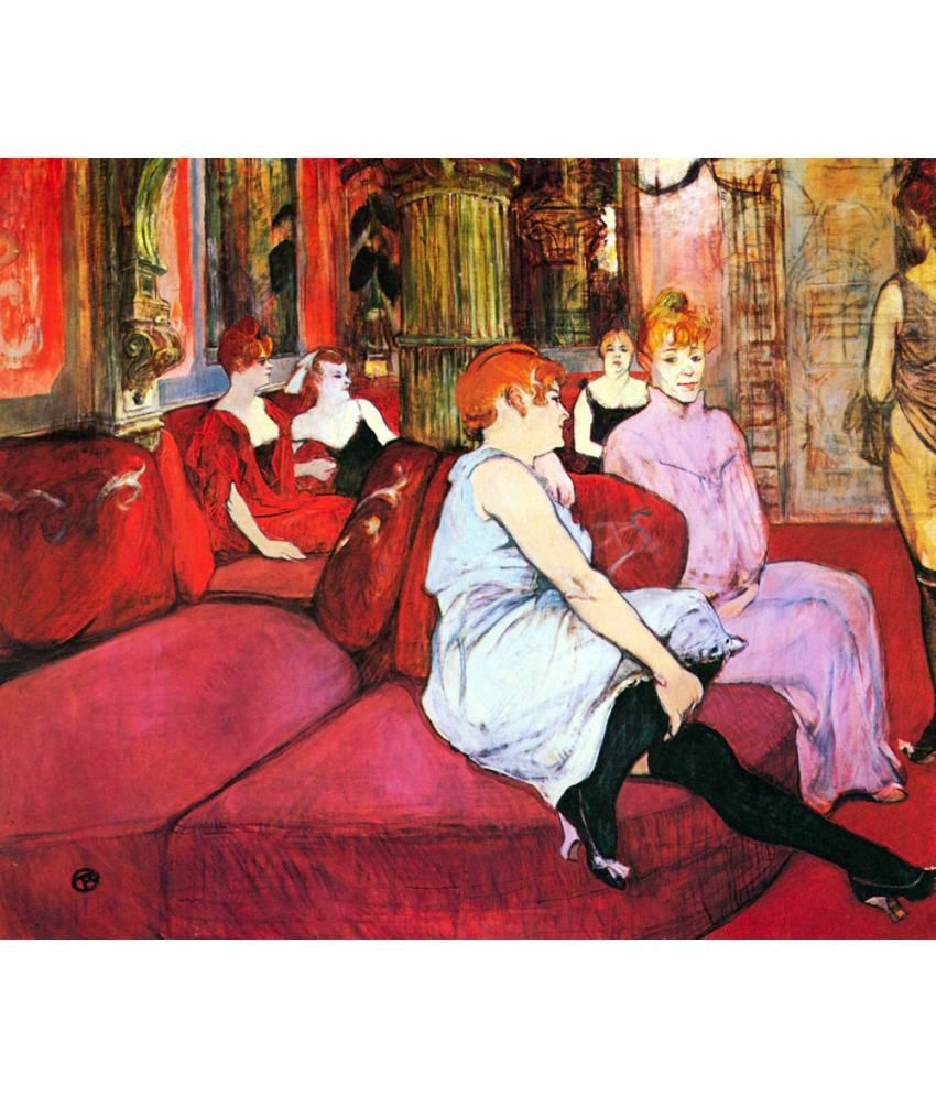 the museum outlet salon in the rue de moulins by toulouse lautrec poster buy the museum outlet. Black Bedroom Furniture Sets. Home Design Ideas