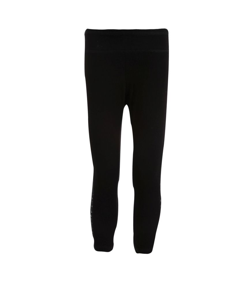 Posh Kids Black Cotton Leggings