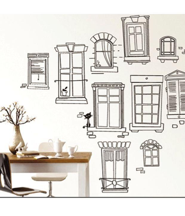 Wall Art Stickers Vector : Studio briana abstract doors windows and cupboard vector