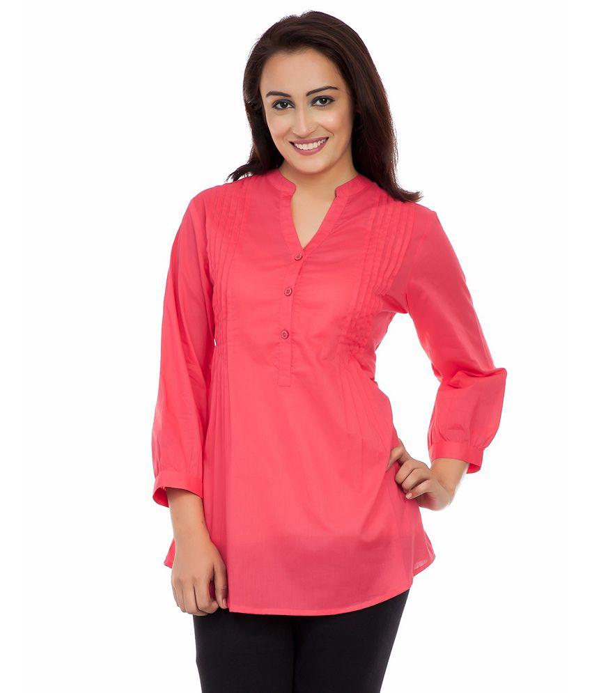 Deewa Pink Cotton Tunics