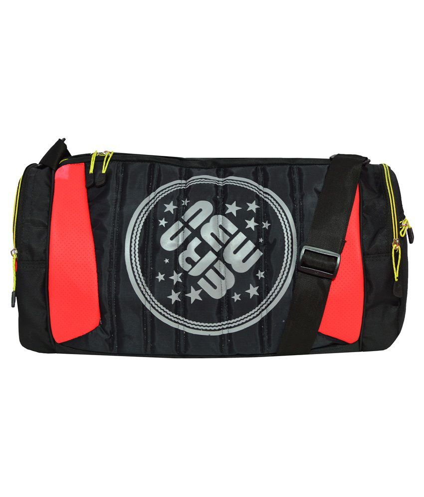 Newera Black Polyester gear Gym Bag