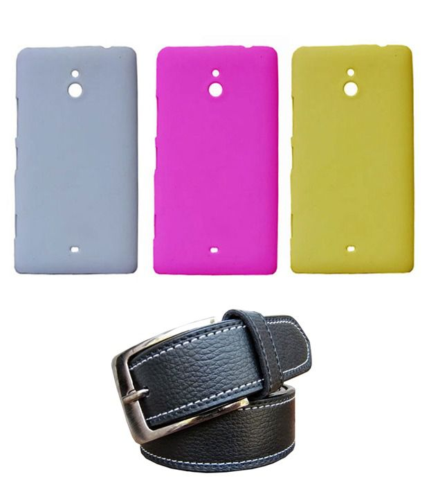 Winsome Deal Black Belt with 3 Back Cover Cases for Nokia Lumia 1320