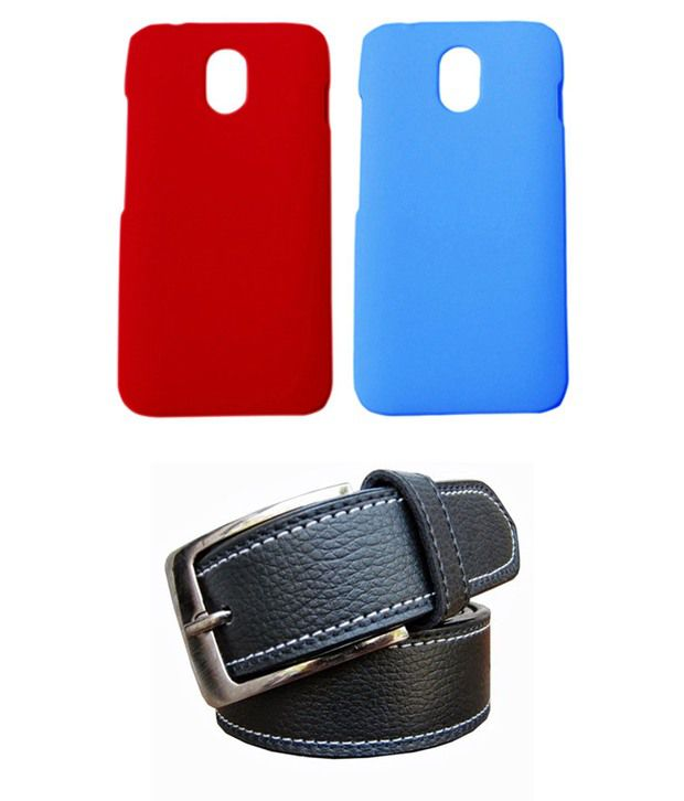 Winsome Deal Black Belt with 2 Back Cover Cases for HTC Desire 210