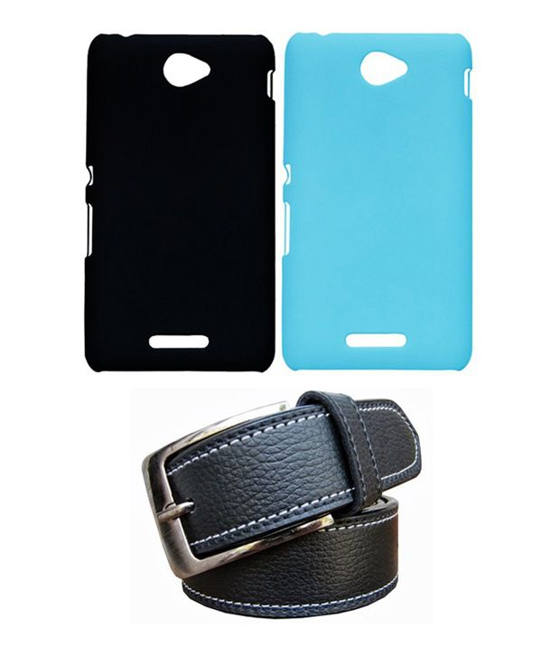 Winsome Deal Black Belt with 2 Back Cover Cases for Sony Xperia E4