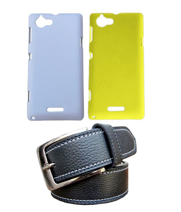 Winsome Deal Black Belt with 2 Back Cover Cases for Sony Xperia L S36H