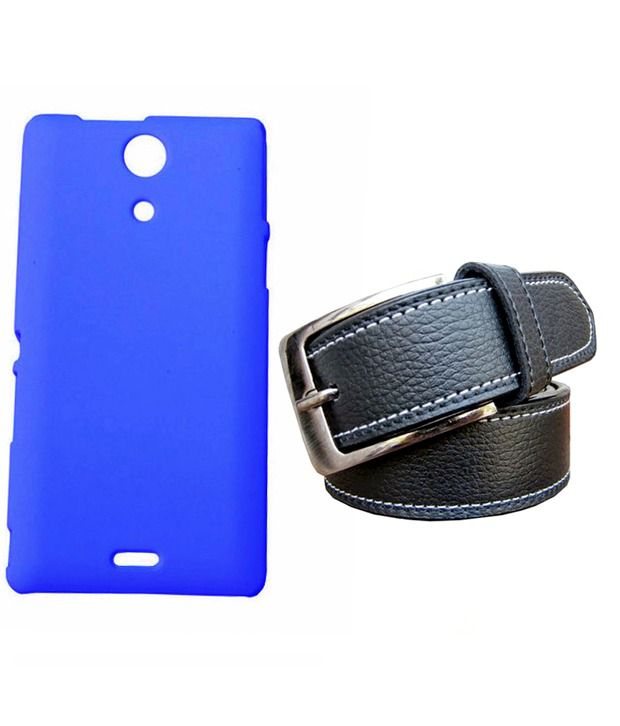 Winsome Deal Black Belt with Back Cover Case for Sony Xperia ZR